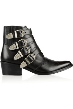 Toga black ankle boot