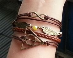 --★--★--+++ITEM+DETAILS+++--★--★--+  Bracelet-Infinity+Bracelet,Angel's+wings+Bracelet,++Harry+Potter+Bracelet,+Brown+Pearl+Braid+Bracelet,Best+Chosen/personalized+Jewelry+Gift.+With+fresh,+harmonious+color+collocation,++and+especially+the+elaborate+quality,+it's+good+to+be+an+adorable+...