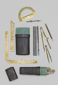 A LOT OF 2 SETS OF DRAWING INSTRUMENTS, France, 17th 18 th century - by Koller Auctions