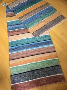 Räsymatto/kudottu matto 81x310 Pretty Patterns, Loom Weaving, Carpet Design, Recycled Fabric, Woven Rug, Rug Making, Handmade Art, Handicraft, Rugs On Carpet