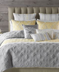 Would love for our bedroom - Bryan Keith Bedding, Tango 9 Piece Comforter Sets - Bed in a Bag - Bed & Bath - Macy's Home, Bedroom Makeover, Cheap Bed Sheets, Comforter Sets, Bedroom Design, Bedroom Sets, Yellow Bedding Sets, Bedroom Decor, Yellow Bedding