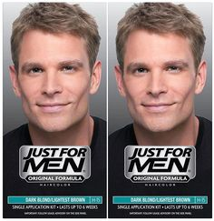 Just For Men Shampoo-In Hair Color - Dark Blond/Lightest Brown - 2 pk ** This is an Amazon Affiliate link. You can find out more details at the link of the image.