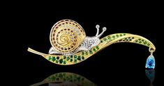 Snail brooch by Master Exclusive Izhevsk Jewelry House, Russia