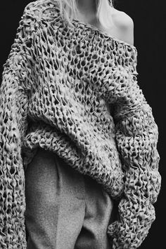"""Irene Hiemstra in """"Le noveau tricot"""" by Duy Vo for Vogue Netherlands, Nov 2014."""