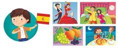 I'm Ready to Explore My World - Barbara Bongini #spain #world #country #flag #culture #food #childrensbook #illustration #kidlitart #barbarabongini
