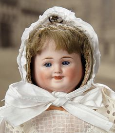 """Fascination"" - Sunday, January 8, 2017: 141 German Bisque Three-Faced Doll by Carl Bergner"