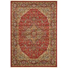 """World Menagerie Zoey Red Area Rug Rug Size: 10'6"""" x 16'5"""""""