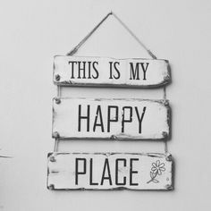 This is my happy place handmade vintage letrero is part of Diy room decor -
