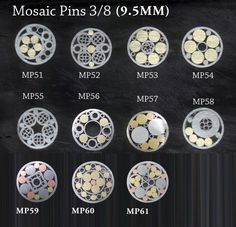 Mosaic Pins for Knife Handles.