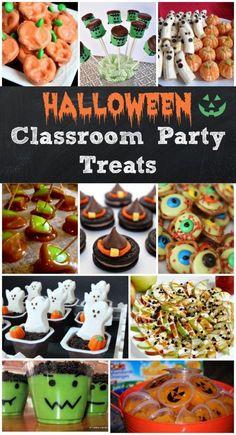 Halloween classroom party treat ideas: