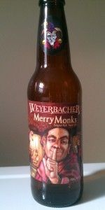 Merry Monks' Ale is a Tripel style beer brewed by Weyerbacher Brewing Co. in Easton, PA. 87 out of 100 with 1967 ratings, reviews and opinions.