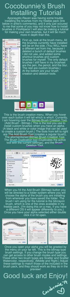 Tut: Brush Installing Tutorial by cocobunnie.deviantart.com on @DeviantArt