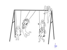 Im the one climbing the swing set