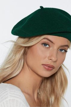 a1c6ce2e Level Head Beret Beret Outfit, Green Beret, Nasty Gal, What To Wear,