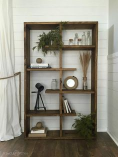This shelf is perfect for any space, literally!  Whether you need to fill a wide space or a tall space, this unit has you covered. It is designed so that is can be rotated to fit your needs.