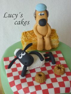 Sheep Shaun and Bitzer - Cake by Lucyscakes