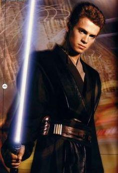 Hayden Christensen as Anakin Skywalker from Star Wars.