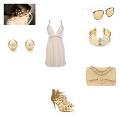 """""""White & Gold"""" by sole-luna-91 ❤ liked on Polyvore featuring Forever 21, Belk Silverworks, Tiffany & Co., Manolo Blahnik, Chanel and Linda Farrow"""
