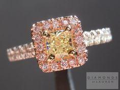 pink dimaond ring