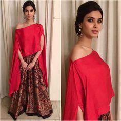 Diana Penty Indian Designer Outfits, Designer Dresses, Designer Clothing, Indian Wedding Outfits, Indian Outfits, Indian Gowns, Indian Wear, Lehenga, Anarkali