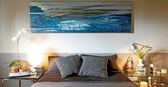 Quarto de apartamento decorado pelo designer de interiores Maxilimiliano Crovato.