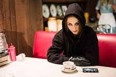 """A still photograph taken by Keegan Allen of Troian Bellisario from Pretty Little Liars, season 3, episode 24, """"A dAngerous gAme,"""" aired 19 March 2013. Troian plays Spencer Hastings and Keegan plays Toby Cavanaugh."""