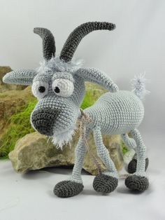 Amigurumi Pattern – Gus the Goat – English Version Gus the Goat Amigurumi Crochet Pattern by IlDikko on Etsy Crochet Gratis, Crochet Patterns Amigurumi, Crochet Dolls, Crochet Baby, Free Crochet, Crochet Animal Patterns, Stuffed Animal Patterns, Crochet Animals, Single Crochet