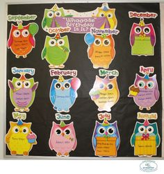 Preschool 1's Owl Birthday Board!