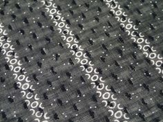 "2 yards! Victorian Antique c1880-1910 Sheer Black Organdy Cotton Fabric 72x27"""