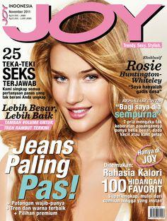 JOY Indonesia November 2011 issue.  #RosieHuntington-Whiteley