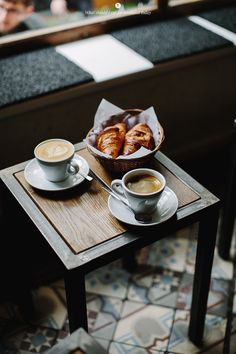 Breakfast with croissant and cappuccino at my fav cafè But First Coffee, I Love Coffee, Coffee Break, My Coffee, Coffee Drinks, Morning Coffee, Coffee Cups, Coffee Signs, Coffee Creamer