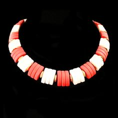 Avon Spectator Necklace Vintage Red White by RomeoetJuliet on Etsy, $17.99