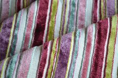 Gorgeous!   Italian Pink, Lime Green, Lilac, Turquoise Velvet Upholstery Curtain Fabric PM