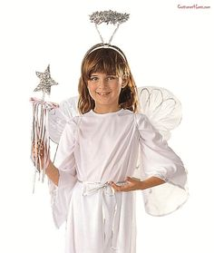 Angel Set Child Size#Set, #Angel, #Size Book Characters Dress Up, Character Dress Up, Angel Dress Up, Angel Outfit, Halloween Costume Accessories, Halloween Costumes For Kids, Angel Wings Halloween, Beautiful Lines, A Team