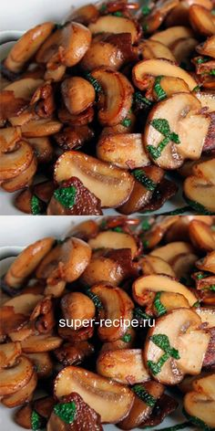 Food Dishes, Side Dishes, Mushroom Dish, Cooking Recipes, Healthy Recipes, Russian Recipes, Food To Make, Food Photography, Stuffed Mushrooms
