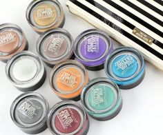 Maybellines amazing color tatoo i love them they hold on for 24 hour for real!