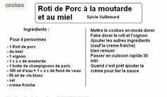 Rôti porc Pork Roast, Recipes