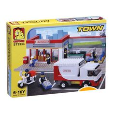 Oxford Lego Style Block Toy ST3333- Town Series Post Office