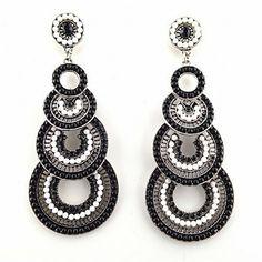 Chandelier Ohrringe VIVIEN schwarz von TRENDOMLY JOLIEBijouterie Earrings Jewelry Trend 2014