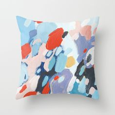 Bits+And+Pieces+Throw+Pillow+by+Emily+Rickard+-+$20.00