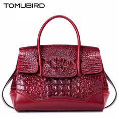 TOMUBIRD new superior genuine leather brand women bags  Embossed Crocodile  Designer tote bag Leather Luxury handbags
