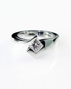 unique wedding rings for women | Modern engagement ring, bespoke engagement ring, unique ring