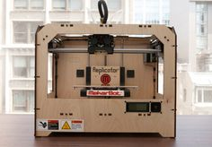 The MakerBot Replicator is the most full-featured consumer 3D printer thanks to its dual-extruder print head and the largest print platform in its category.