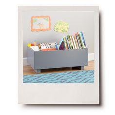 Childrens low level book storage. Love.
