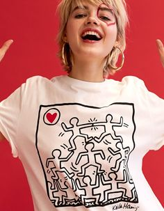 At Stradivarius you'll find 1 Keith Haring print T-shirt for just 69.9 Romania . Visit now to discover this and more Be My Valentine.