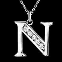 60% OFF - Letter A-S Silver Plated Necklace