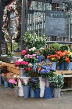 Flowers. Old Spitalfields Market, London