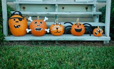 Forget carving, these pumpkin decorating ideas are kid-friendly, easy, and spookily stunning. Check out our seven favourite pumpkin decorating crafts here. Spooky Halloween, Holidays Halloween, Halloween Pumpkins, Halloween Crafts, Halloween Stuff, Halloween Ideas, Happy Halloween, Pumpkin Faces, Cute Pumpkin