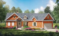 Cost-Effective Craftsman House Plan - 25610GE thumb - 01