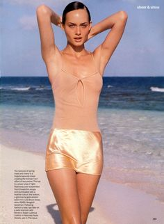 Amber Valletta   Photography by Herb Ritts   For Vogue Magazine US   April 1994